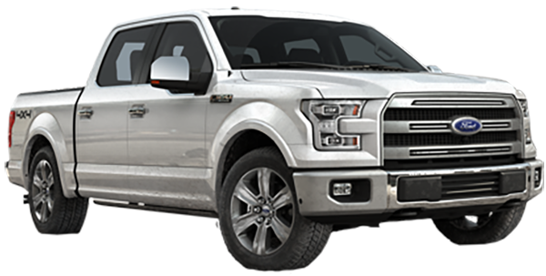 Silver Ford Truck